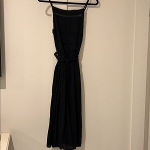 Black midi dress with detailing worn once
